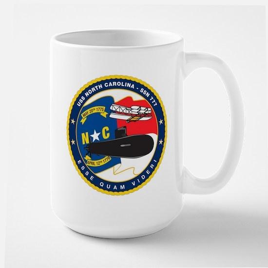 USS (PCU) North Carolina SSN 777 Large Mug
