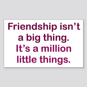 Friendship is Sticker (Rectangle)