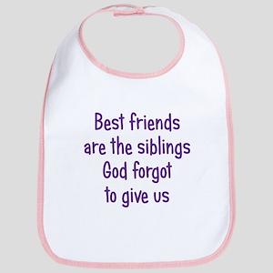 God and Best Friends Bib