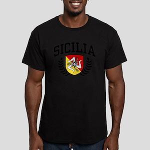Sicilia Men's Fitted T-Shirt (dark)