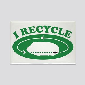 I Recycle Rectangle Magnet