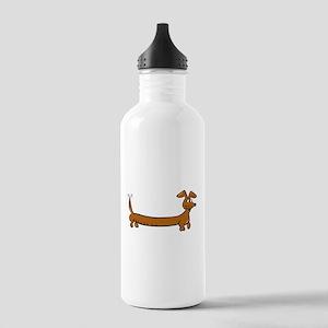 Doxie - Dachshund Cartoon Stainless Water Bottle 1