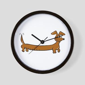 Doxie - Dachshund Cartoon Wall Clock
