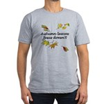 Autumn Leaves Jesus Doesn't Men's Fitted T-Shirt (