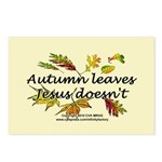 Autumn Leaves Jesus Doesn't Postcards (Package of
