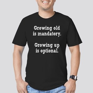 Growing old Vs Growing Up Men's Fitted T-Shirt (da