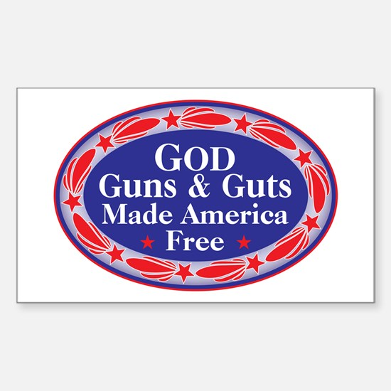 god guns guts Decal