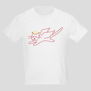 White Angel Kitty Kids T-Shirt