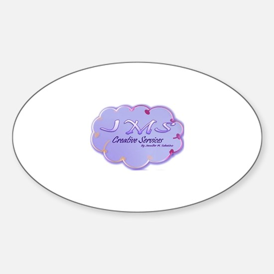 Cute Facebook art Sticker (Oval)