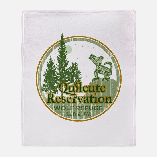 Quileute Wolf Refuge Throw Blanket