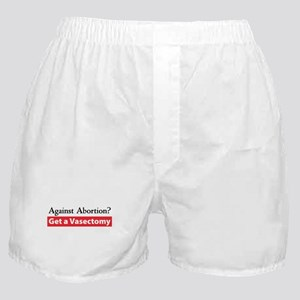 Get a Vasectomy Boxer Shorts