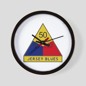Jersey Blues Wall Clock