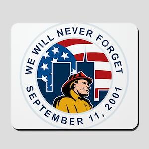 9-11 fireman firefighter Mousepad