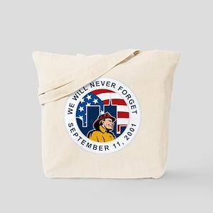 9-11 fireman firefighter Tote Bag