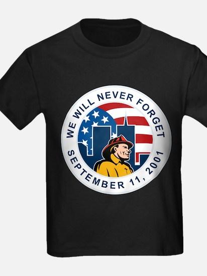9-11 fireman firefighter T