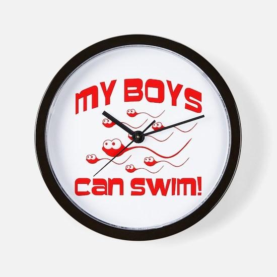 My Boys Can Swim Seinfield Wall Clock