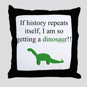 If History Repeats Throw Pillow