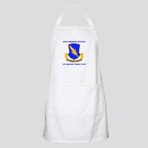 DUI - 1st BCT with Text Apron