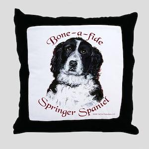 Bone-a-fide Throw Pillow
