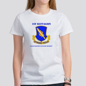 DUI - 1st Bn - 504th PIR with Text Women's T-Shirt