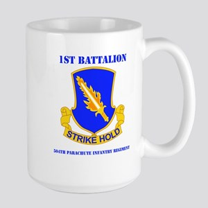 DUI - 1st Bn - 504th PIR with Text Large Mug