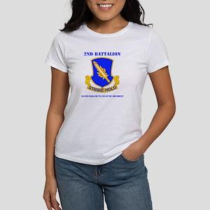 DUI - 2nd Bn - 504th PIR with Text Women's T-Shirt