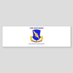 DUI - 2nd Bn - 504th PIR with Text Sticker (Bumper