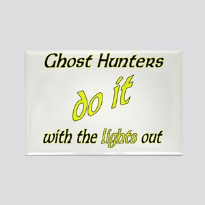 Ghost Hunters Do It Lights Out Rectangle Magnet