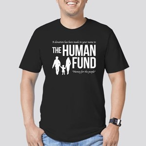 The Human Fund Seinfield Men's Fitted T-Shirt (dar