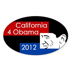 California 4 Obama 2012 bumper sticker