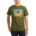 Fruitful O's (No Text) Organic Men's T-Shirt (dark