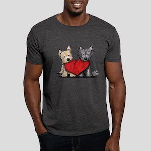 Cairn Terrier Heartfelt Duo Dark T-Shirt