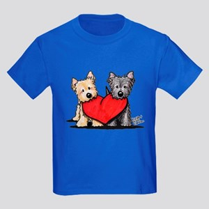 Cairn Terrier Heartfelt Duo Kids Dark T-Shirt