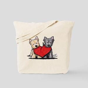 Cairn Terrier Heartfelt Duo Tote Bag