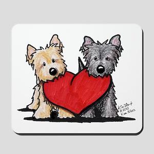 Cairn Terrier Heartfelt Duo Mousepad