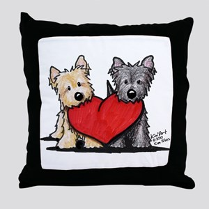Cairn Terrier Heartfelt Duo Throw Pillow