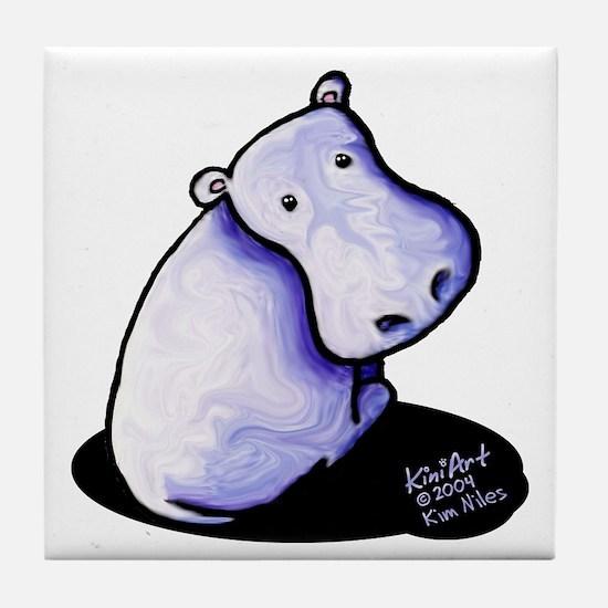 Groovy Hippo Tile Coaster