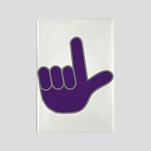 Big Purple Loser Rectangle Magnet