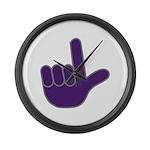 Big Purple Loser Large Wall Clock