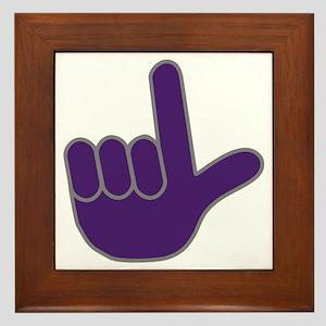 Big Purple Loser Framed Tile