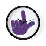 Big Purple Loser Wall Clock