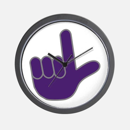 Big Purple Loser Wall Clock