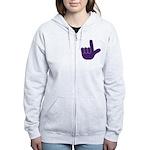 Big Purple Loser Women's Zip Hoodie