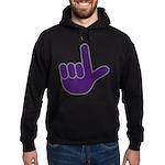 Big Purple Loser Hoodie (dark)