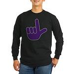 Big Purple Loser Long Sleeve Dark T-Shirt