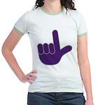 Big Purple Loser Jr. Ringer T-Shirt