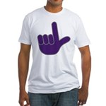 Big Purple Loser Fitted T-Shirt