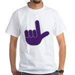 Big Purple Loser White T-Shirt