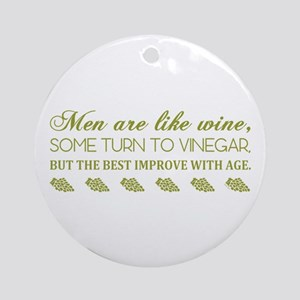 Men Are Like... (Grn) Ornament (Round)