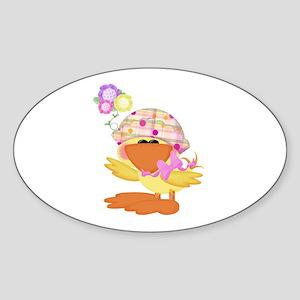 Baby Quackups 1 Oval Sticker